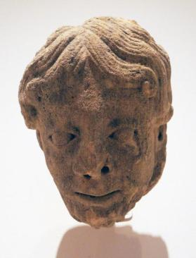 Corbel in the Form of a Bearded Man