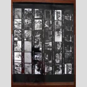 Sheet of Contact Prints for Bruce Conner XX DOUBLE AWARD Action with Kristine Stiles