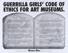 Code of Ethics from the portfolio Guerrilla Girls' Most Wanted: 1985–2008