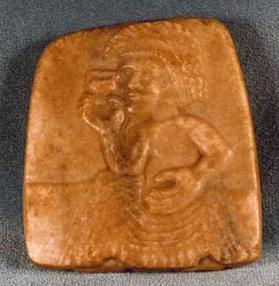 Relief Figure of Cup-bearer  (possibly a scroll weight)
