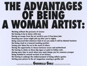 The Advantages of Being a Woman Artist from the portfolio Guerrilla Girls' Most Wanted: 1985–2008
