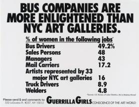 Bus Companies from the portfolio Guerrilla Girls' Most Wanted: 1985–2008
