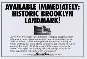 Brooklyn Landmark from the portfolio: Guerrilla Girls' Most Wanted: 1985–2008