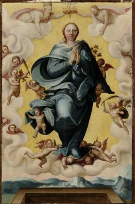 Assumption of the Virgin from Scenes from the life of Christ and the Virgin Mary