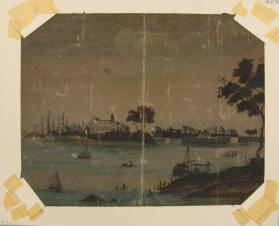 Untitled (Harbor scene with castle)