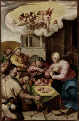 Adoration of the Shepherds from Scenes from the life of Christ and the Virgin Mary