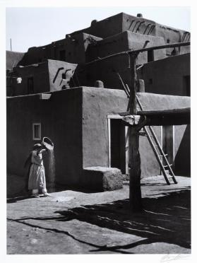 Winnowing Grain, Taos Pueblo, New Mexico