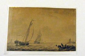 Seascape with Sailing Vessels