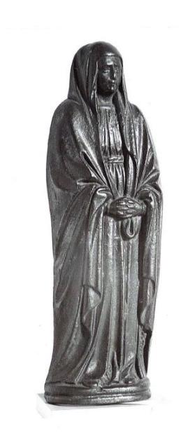 Door Knocker in the form of a Mourning Virgin