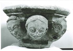 Capital with Three Grotesque Heads