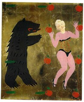 Untitled (Bear and Marilyn Monroe)
