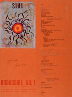 "Broadside No. 1 (containing the poem: ""This"")"