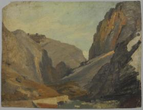 Landscape Sketch of Mountains and Valley