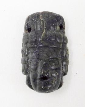 Bead in the Form of a Head Wearing a Headdress
