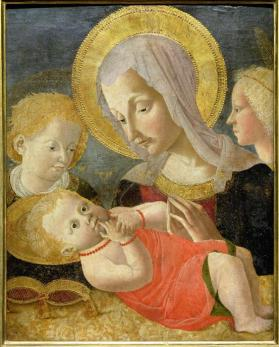 Virgin Adoring the Christ Child with Two Attendants
