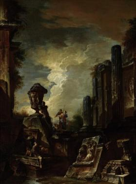 Architectural Capriccio with Figures