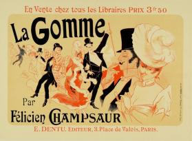 La Gomme par Félicien Champsaur (Poster for the book La Gomme [Phony Dealings] by Félicien Champsaur)