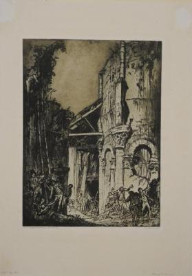 Abby of St. Leonards from the book Architectural Etchings