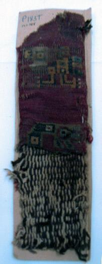 Fragment, Textile band, Bird
