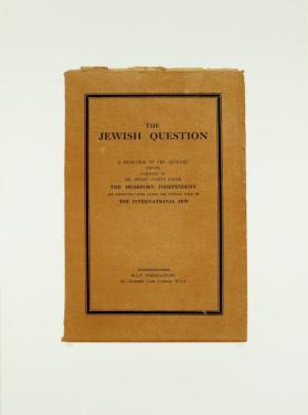 The Jewish Question from the portfolio In Our Time: Covers for a Small Library After the Life for the Most Part