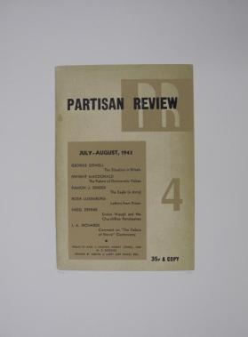 Partisan Review from the portfolio In Our Time: Covers for a Small Library After the Life for the Most Part