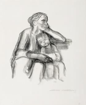 Arbeiterfrau mit Schlafendem Jungen (Worker Woman with Sleeping Child)