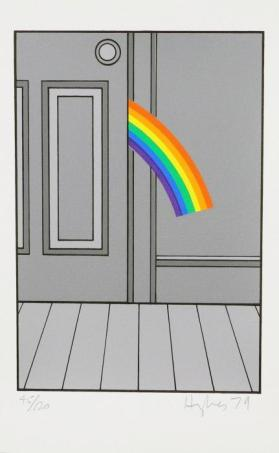 Rainbow Entering Door from the portfolio The Domestic Life of the Rainbow