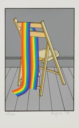 Rainbow Draped Over Chair from the portfolio The Domestic Life of the Rainbow