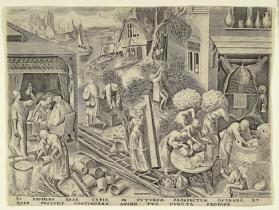 Prudentia (Prudence) from the series The Seven Virtues (after Pieter Brueghel the Elder)