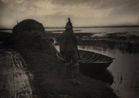 Marshman Going to Cut Schoof-Stuff from Life and Landscape on the Norfolk Broads