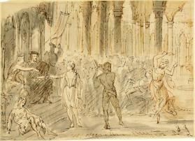 Court Scene with Entertainers