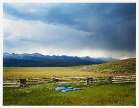 Irrigator's Tarp Directing Water, Fourth of July Creek Ranch, Custer County, Idaho from The PRC Portfolio