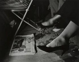 Spilled Glass and Legs, NYC from the portfolio SOCIAL CONTEXT