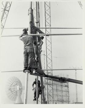 Cape Canaveral Space Center, Florida – military technicians repairing tower