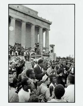 March on Washington, (SNCC members and friends defiantly gather to sing freedom songs)