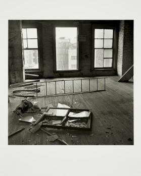 Interior with Ladder and Broken Window, from the series The Destruction of Lower Manhattan