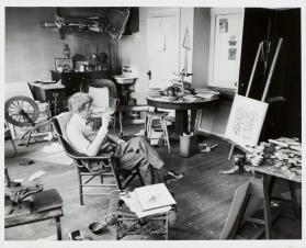 John Marin in His Studio, Hoboken, New Jersey