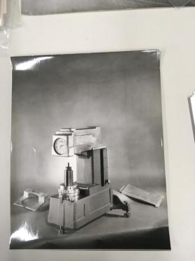 Still life of hardness testing machine, Kent Cliff Laboratories