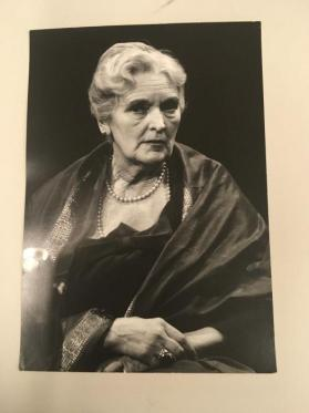 Dame Sybil Thorndike on Mike Wallace's Night Beat show, looking sideways