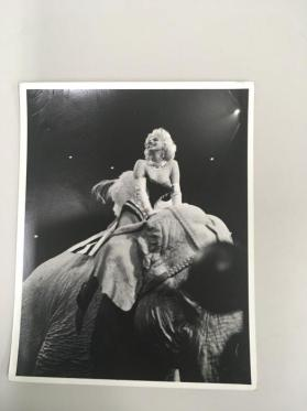 Marilyn Monroe at the Barnum & Bailey Circus, New York City