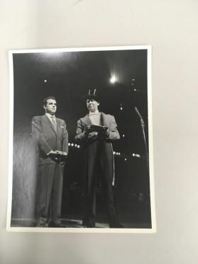 Julius LaRosa and Milton Berle at Circus Opening