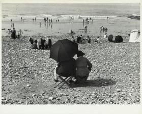 Dieppe, France (black umbrella on beach)