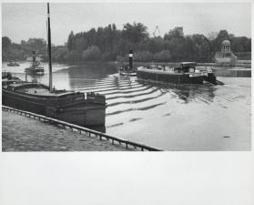 Tug boats, the Seine at Courbevoir, France