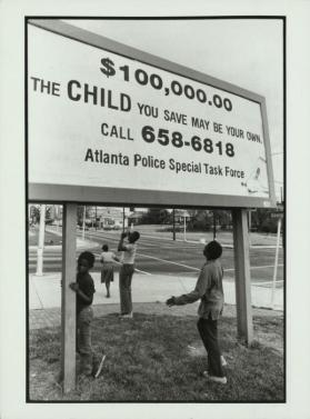 A vast billboard asking residents to help the Task Force, Atlanta, Georgia