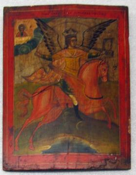 Icon of the Archangel Michael on Horseback