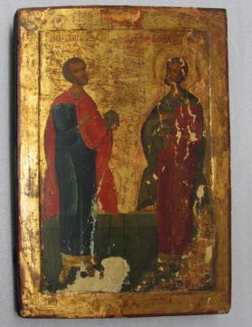 Icon of Saints Cosmas and Damian