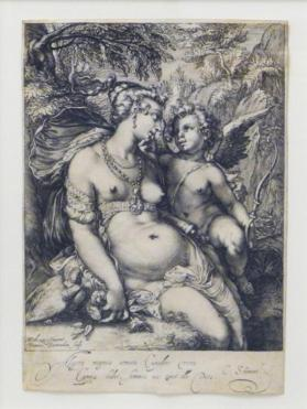Venus Resting with Cupid (after Hendrick Goltzius)