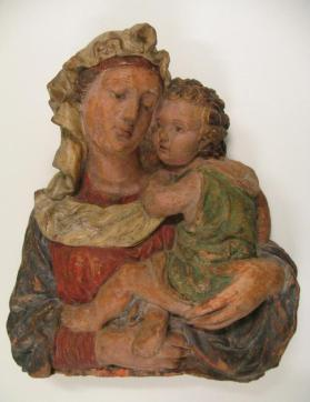Relief of Virgin and Child