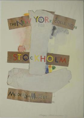 """New York Collection for Stockholm-Moderna Museet"""