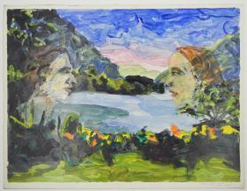 Untitled (Faces with lake)